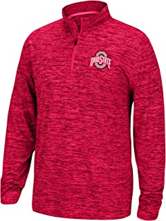 NCAA Men's Team Color Space Dyed Poly Quarter Zip Pullover