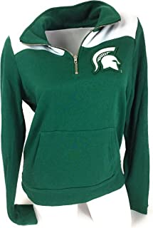 Victoria's..Secret Pink Michigan State Sparked Spartan Quarter Zip Sweatshirt Medium
