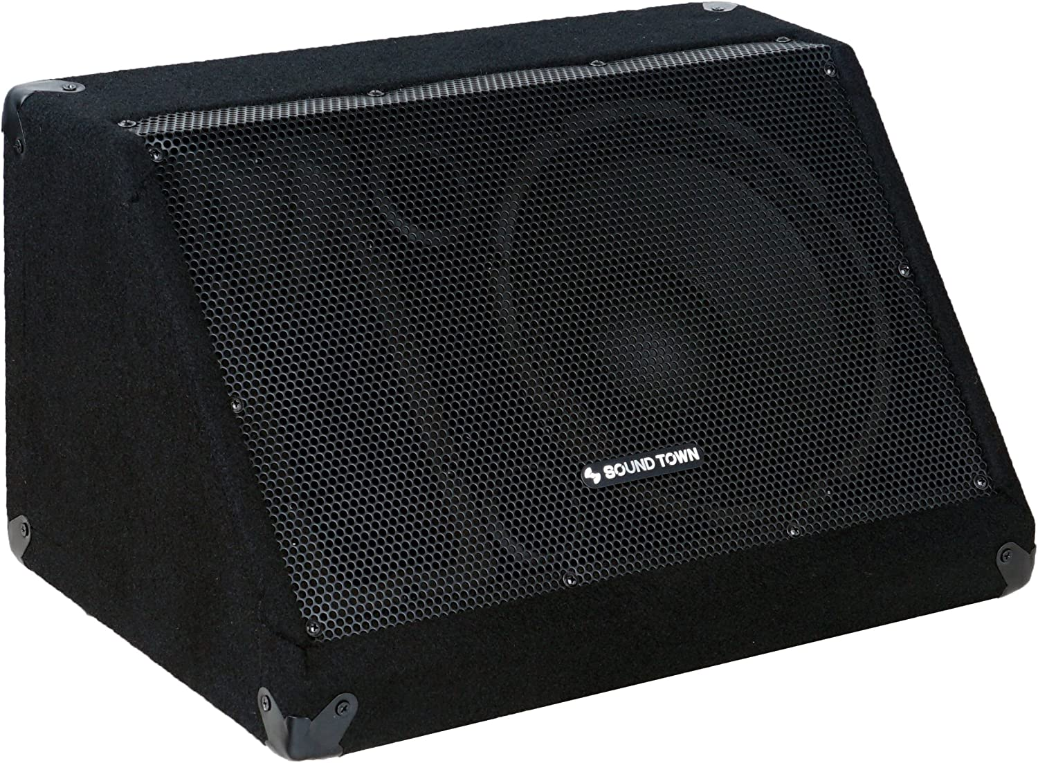 """Sound Town Passive DJ PA Stage Monitor Speaker METIS-10M 10/"""" 300W with Compression Driver for Live Sound Bar Church"""