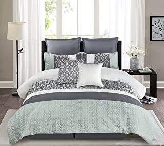Wonder-Home comforter set, King, Teal