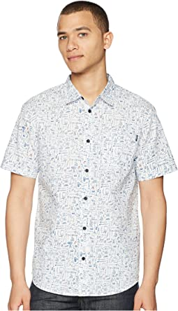 Growler Short Sleeve Woven Top