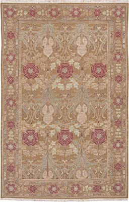 """Nourison Nourmak (S144) Gold Rectangle Area Rug, 5-Feet 10-Inches by 8-Feet 10-Inches (5'10"""" x 8'10"""")"""