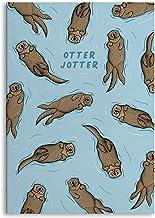 """Central 23 - Rolig träningsbok - A5 anteckningsbok - 80 sidor - """"Otter Jotter"""" - Sött djurtryck - Vanligt papper - Planner..."""
