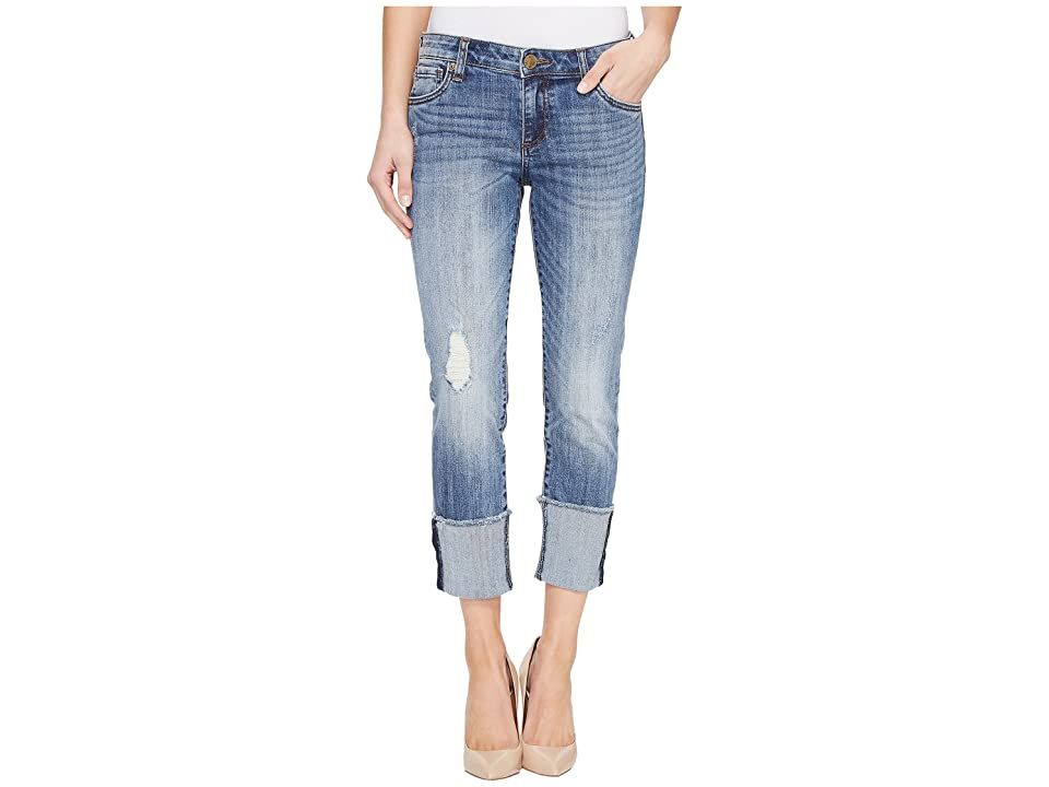 KUT from the Kloth Cameron Wide Fray Cuff Straight Leg in Gain (Gain) Women