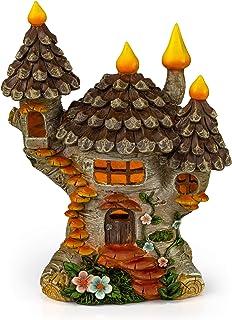 VP Home Pinecone Fairy Cottage Solar Garden Light