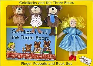 The Puppet Company Goldilocks & The Three Bears Finger Puppets & Story Book Set