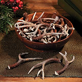Resin Deer Antlers (4 Inches Long) (Set of 4) Hand Painted - Decorative Crafts -Rustic Decor
