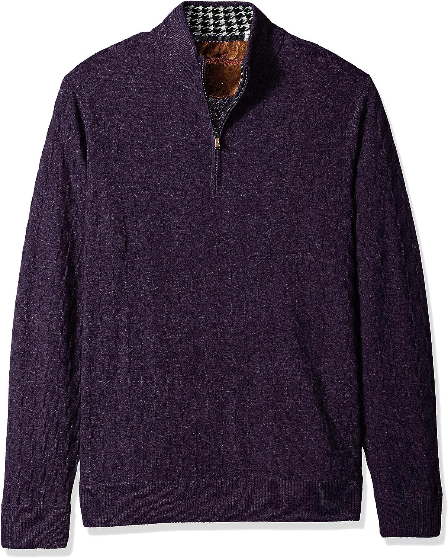 Robert Graham Men's Rowley Quarter Zip Sweater