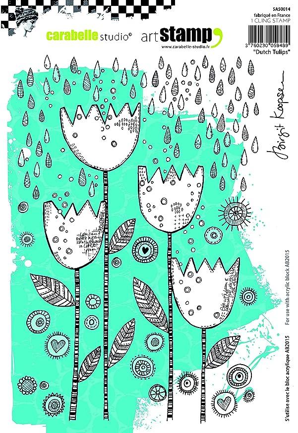 Carabelle Studio SA50014 A5 Cling Stamp - Dutch Tulips by Birgit Koopsen
