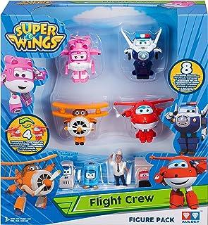 Super Wings Series 1-World Airport Flight Crew A (Jett, Paul, Grand Albert, Dizzy) + 4 Figure in PVC, YW710650A