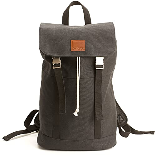 Höher   Water Resistant 12oz Waxed Canvas Backpack   Large Capacity With  Drawstring, Padded Laptop 4b9ff4734a