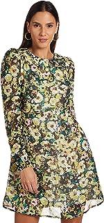 فستان نيلا للنساء من فيرو مودا باكمام طويلة