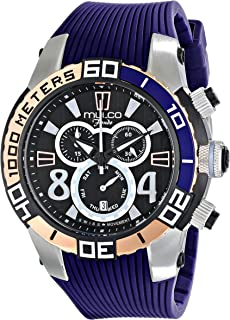 MULCO Unisex MW1-74197-044 Analog Display Swiss Quartz Blue Watch