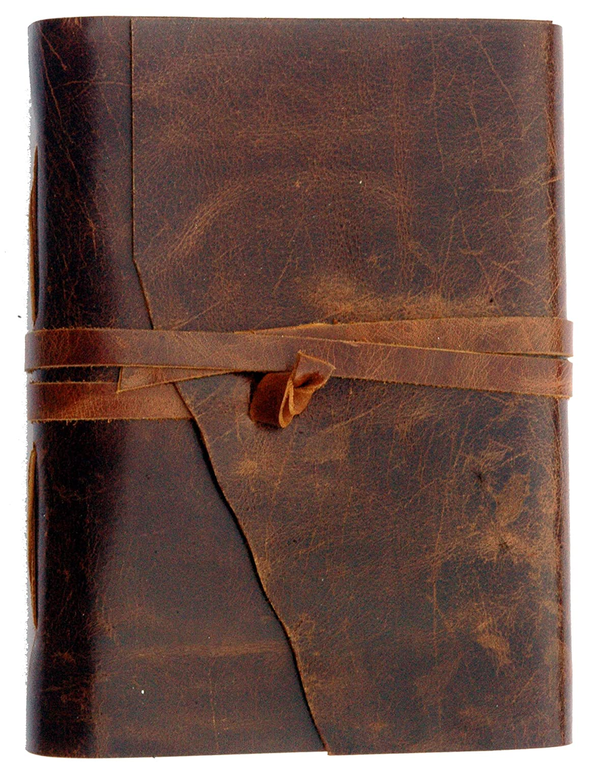 Scuff - Resistant Distressed Drum Dyed Premium Supple Leather With Soft Luster : Stoke Your Wanderlust - Leather Journal, Travel Diary, Unlined Paper Sketchbook