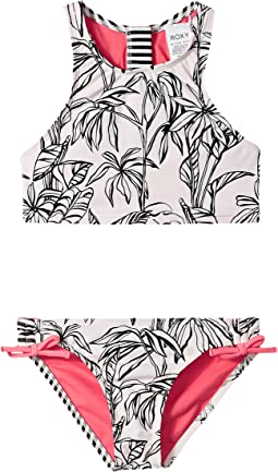 Roxy Kids - California Diary Crop Top Set (Big Kids)