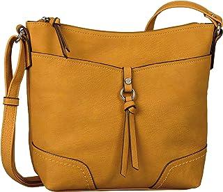 TOM TAILOR bags IMERI Damen Umhängetasche S, mango, 28x8,5x25