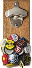 for Men - Housewarming Gifts - Wall Mount Bottle Opener with Magnetic Cap Catcher for Fridge/Wall