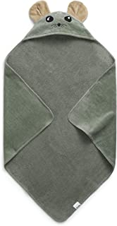 Elodie Details Baby badhandduk med huva av 100 % Oeko-Tex bomull 80 x 80 cm – Hzy Jade, blå/grön
