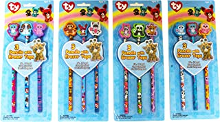 Ty Beanie Boos Pencils with Eraser Tops, Pack of 3, Character Designs will Vary (839-2)
