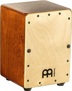 Meinl Mini Cajon Box Drum with Internal Snares - MADE IN EUROPE - Baltic Birch Frontplate / Almond Birch Body, Miniature Size,  2-YEAR WARRANTY (MC1AB-B)