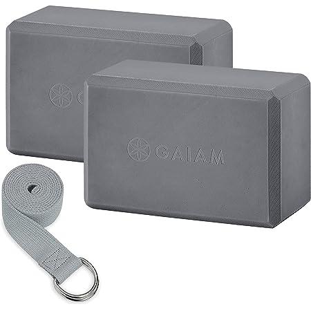 Galam Yoga Paquete de dos bloques y juego de correas
