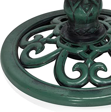 Alpine Corporation TEC114 Birdbath, One Size, Green