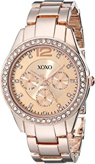 XOXO Womens Quartz Watch, Analog Display and Gold Plated Strap XO5477