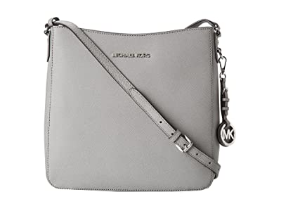 MICHAEL Michael Kors Jet Set Travel Lg Messenger (Pearl Grey) Messenger Bags