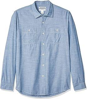 Amazon Essentials Men`s Slim-fit Long-Sleeve Chambray Shirt