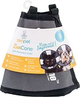ZenPet ProCone Pet E-Collar for Dogs and Cats - Comfortable Soft Recovery Collar is Adjustable for a Secure and Custom Fit - Easy for Pets to Eat and Drink - Works with Your Pet's Collar