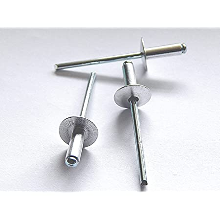 Silber 500Pcs Stahlniete Korrosionsbest/ändig Edelstahl-Blindniete Popnieten 4,0 mm Durchmesser