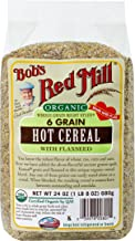 Bob's Red Mill Organic 6 Grain Hot Cereal with Flaxseed, 24-ounce