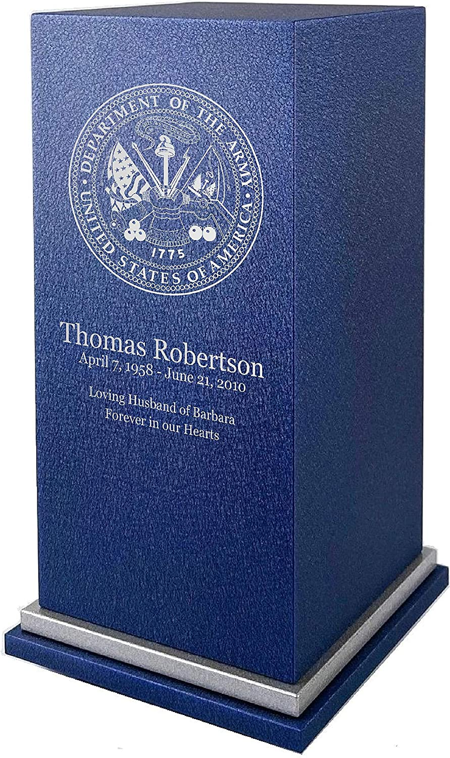Max 49% OFF Amaranthine Urns - US Army Cremation with Urn Recommended Custom Engraving