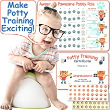 Potty Training Chart for Girls & Boys: Tiger Themed Reward Chart with Stickers