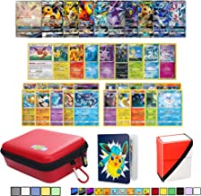 Totem World Eeveelution Pokemon Card Ultra Rare GX Lot with Totem Zipper Case, Mini Binder & Deck Box, Includes 1 GX/EX, 3 Eevee Evolutions Rare, 1 Basic Eevee, 10 Rares and 10 Foil Cards
