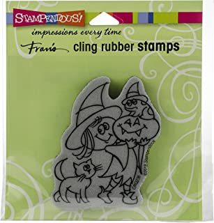 Stampendous Cling Stamp, Witchy Friends
