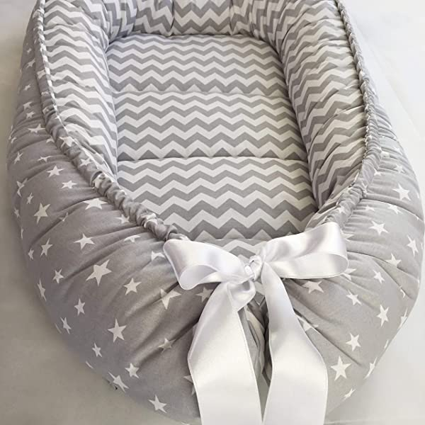 Baby Nest Bed Gray Babynest Co Sleep Nest Crib Pod Newborn Bed Cocoon Snuggle Bed Baby Lounger