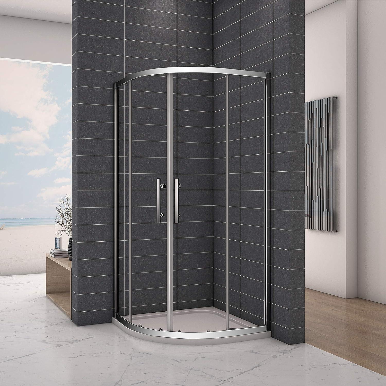 Aica Bathrooms 800x800mm Quadrant Door Shower Enclosure, Chrome