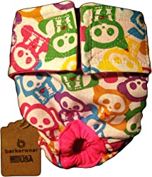 Barkerwear Cat Diapers - Made in USA - Skelanimal Washable Cat Diaper for Piddling, Spraying or Incontinent Cats