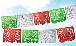 Mexican Papel Picado Banner.16 de Septiembre.Vibrant Colors Tissue Paper. Large Size