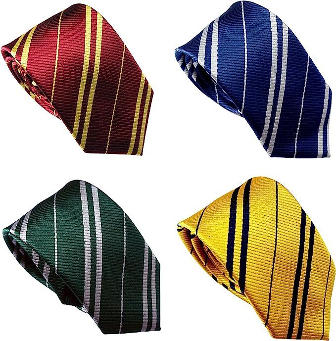 History of 1920s Men's Ties, Neckties, Bowties LilMents 4 Pack Pinstriped Formal Necktie Tie Set  AT vintagedancer.com