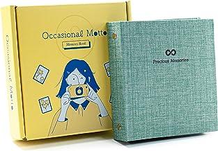 ألبوم الصور ذو الغلاف الصلب من الكتان ذو 100 جيب - مناسب لفيلم Instax الصغير، فيلم صور فوري، 2 × 3 بوصة، كتاب ذاكرة داخلي ...