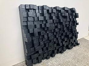 Sound Diffuser, Acoustic Panel, Studio Wooden, SoundProofing, Proof, art, black wood art, Pixel, wooden art, 3d art