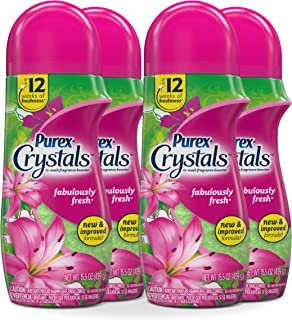 Purex Crystals in-Wash Fragrance and Scent Booster, Fabulously Fresh, 15.5 Ounce, 4 Count