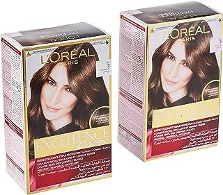 L'Oréal Excellence Crème 5, 192 ml (Pack of 2)