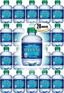 Dasani Purified Water, 10 Fl Oz (Pack of 20, Total of 200 Fl Oz)