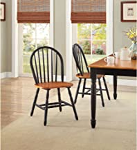 BETTER HOMES GARDENS Windsor Kitchen Chairs Set of 2 Autumn Lane Black & Oak
