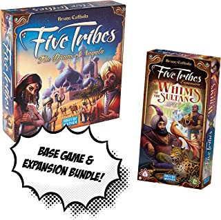 Five Tribes Base Game + Five Tribes: Whims of The Sultan Expansion! Game Bundle!
