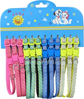 YML Zig-Zag Lines Pet Collar, Assorted Colors