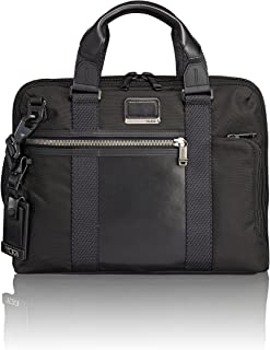TUMI - Alpha Bravo Charleston Compact Laptop Brief Briefcase - 14 Inch Computer Bag for Men and Women - Black
